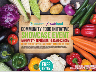 Community Food Initiative Showcase Event, Mon Sept. 5, Mercy Centre, Mallow