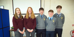10 Students from Davis College and Patrician Academy who participated in the Tip O'Neill school comp