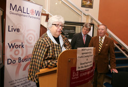 08 Rosemary speaking at the Exhibition Launch
