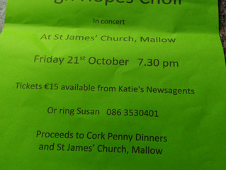 High Hopes Choir Concert at St James Church, October 21st 7.30pm