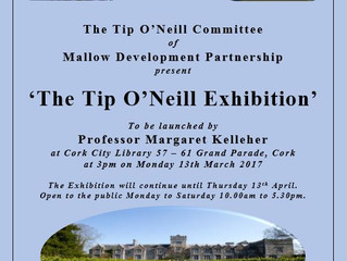 Tip O'Neill Exhibition, Cork City Library 13th March to 13th April, 2017