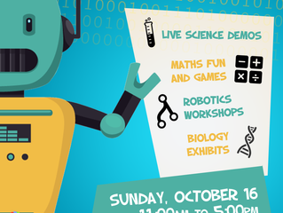 Munster Maths & Science Family Fair, Mallow GAA Complex (Indoors) Sunday 16 October.