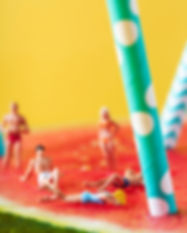 Canva - Miniature People in Swimsuit on
