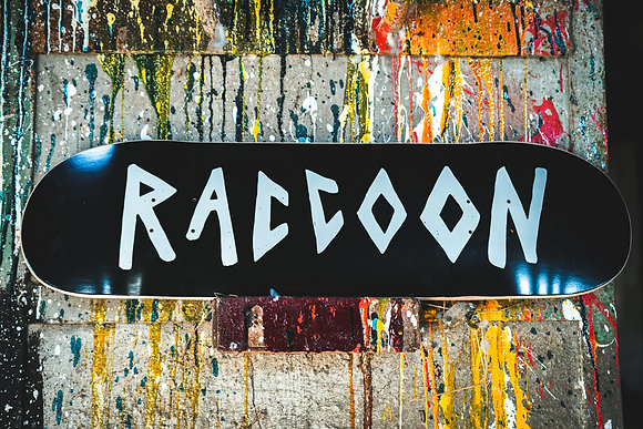 "Skateboard-Deck ""Raccoon"""