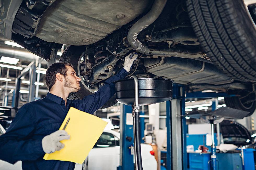 Auto car repair service center. Mechanic