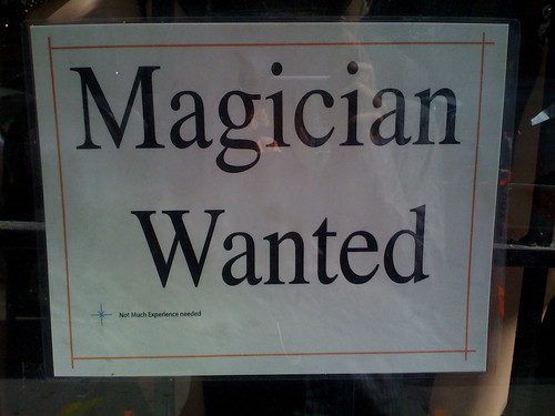 magician wanted