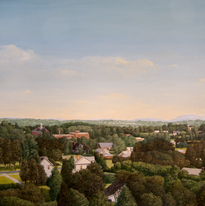 View from the Ninth Floor #3 36x48 1975