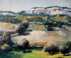 View from Hasbrouck Road #1 24x29 1964