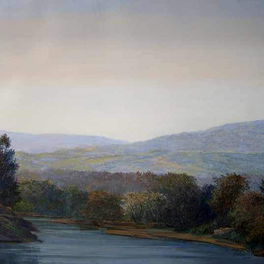 The Wallkill From Market Street 20x24 2000