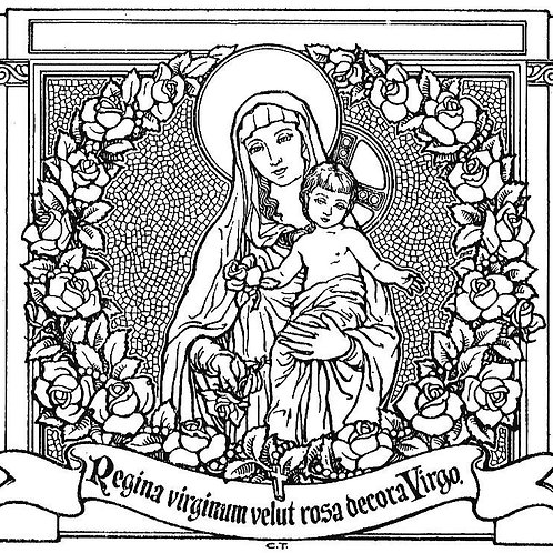 Prayers of the Rosary-Cursive, Latin (digital download)