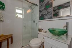 White Master Bathroom Remodel