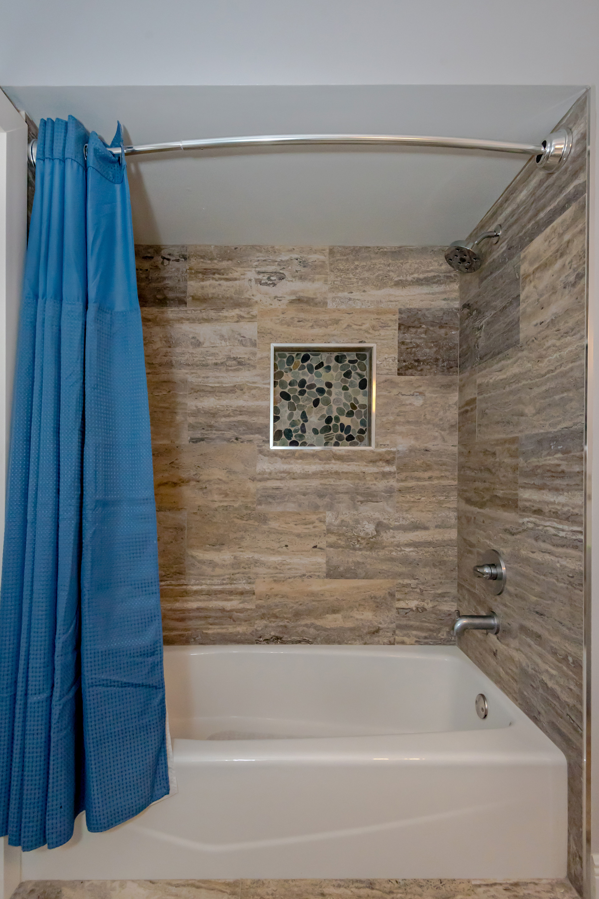 Custom Guest Bathroom Remodel with Shower Niche