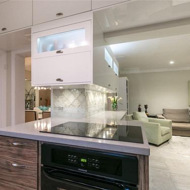Custom, Italian-Finish Kitchen Remodel Highlighted by a Two-Tone Design & Under-Cabinet Lighting 4