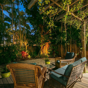 Absolutely Stunning Backyard Terrace Remodel Featuring Custom-Built Wood Deck & Accentuated by Elegant LED Exterior Lighting 2