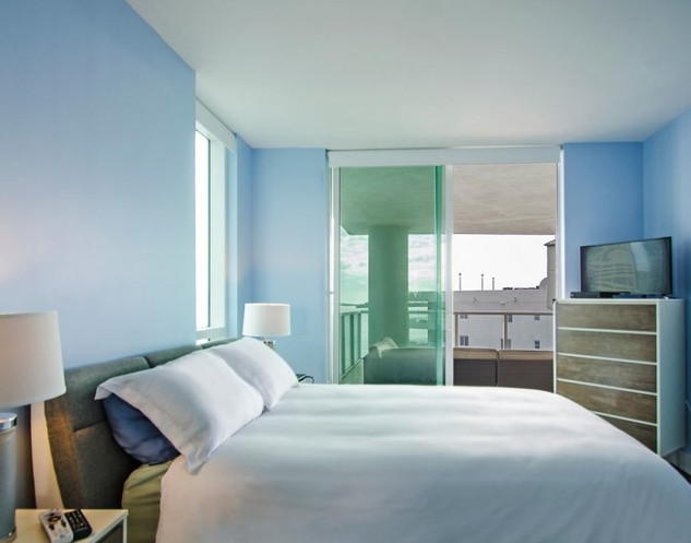 Brickell Penthouse Master Bedroom Remodel with Ocean View