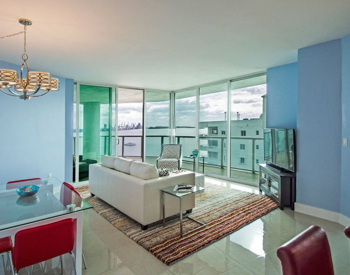 Open-Layout, Brickell Penthouse Remodel with Ocean View