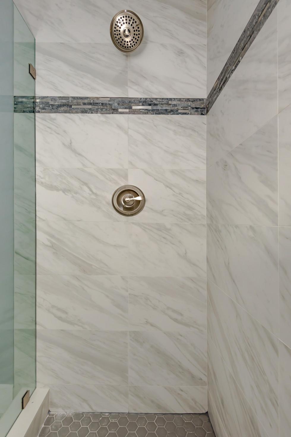 Transitional Master Shower Remodel