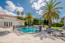 Mansion Backyard Terrace & Pool Area