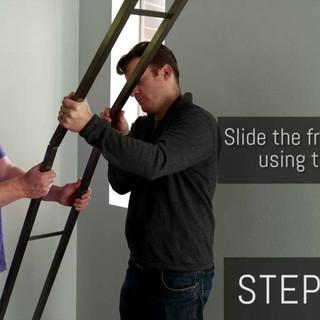 Instalační video pro rámy podlaha - strop
