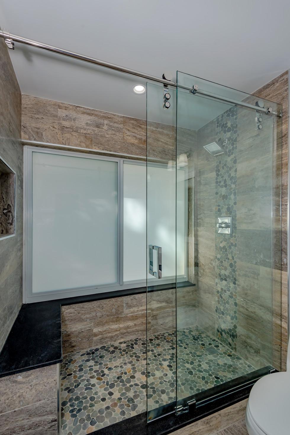Custom Master Bathroom Remodel with Wrap-Around Shower Bench & Shower Niche 2