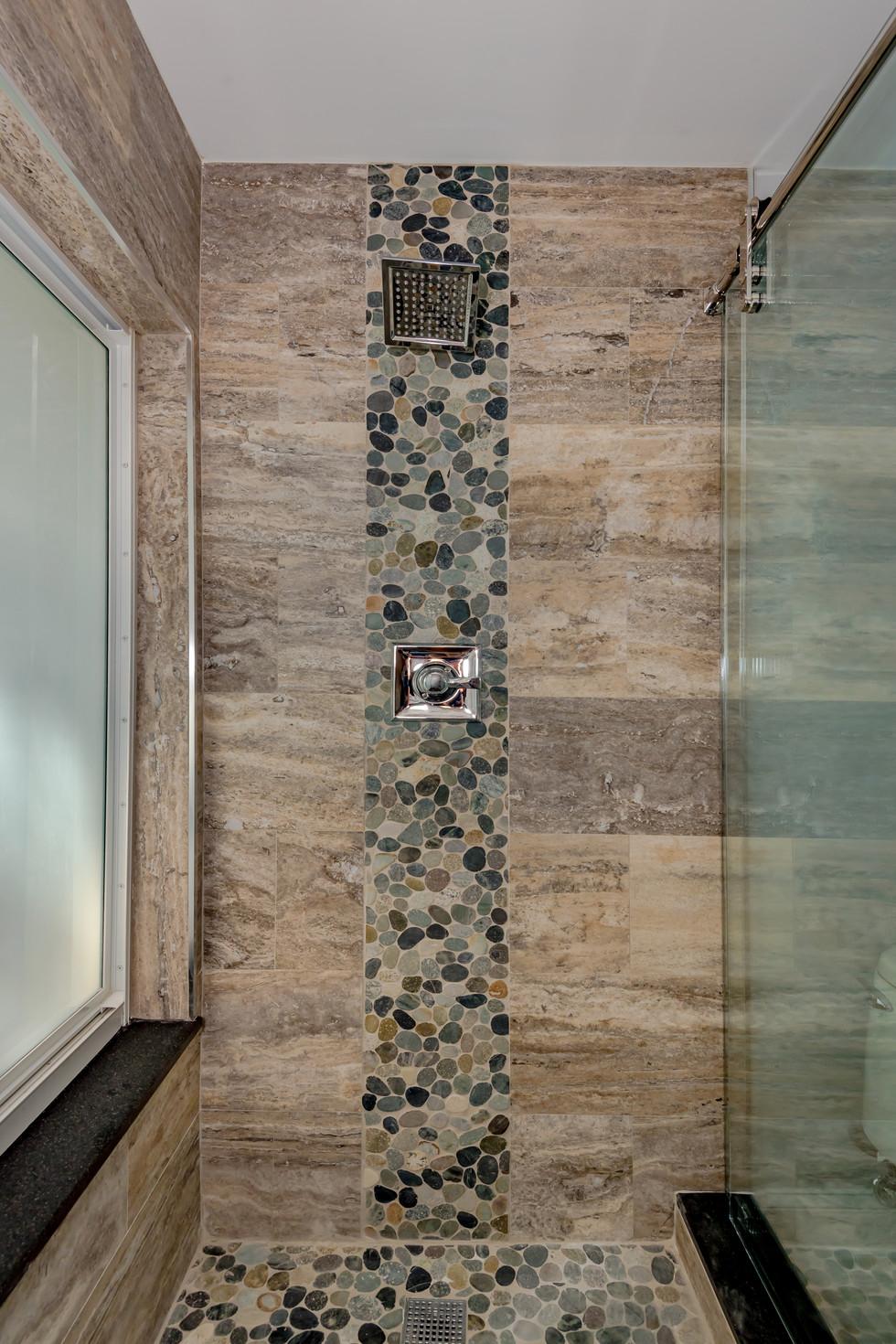 Custom Master Bathroom Remodel with Wrap-Around Shower Bench & Shower Niche 3