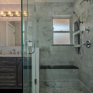 Carrara Marble Master Bathroom Remodel