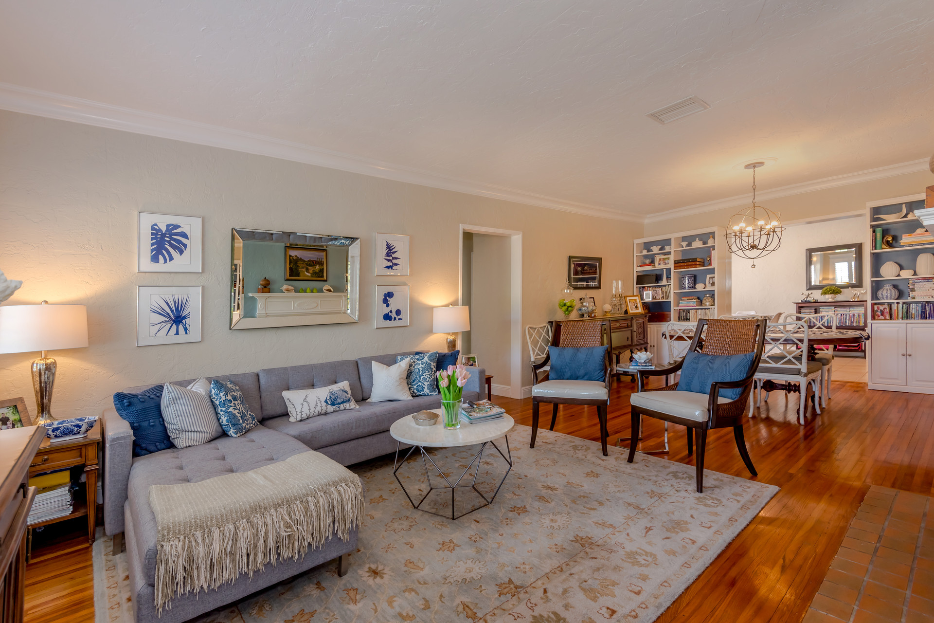 Open-layout, Living & Dining Room Remodel