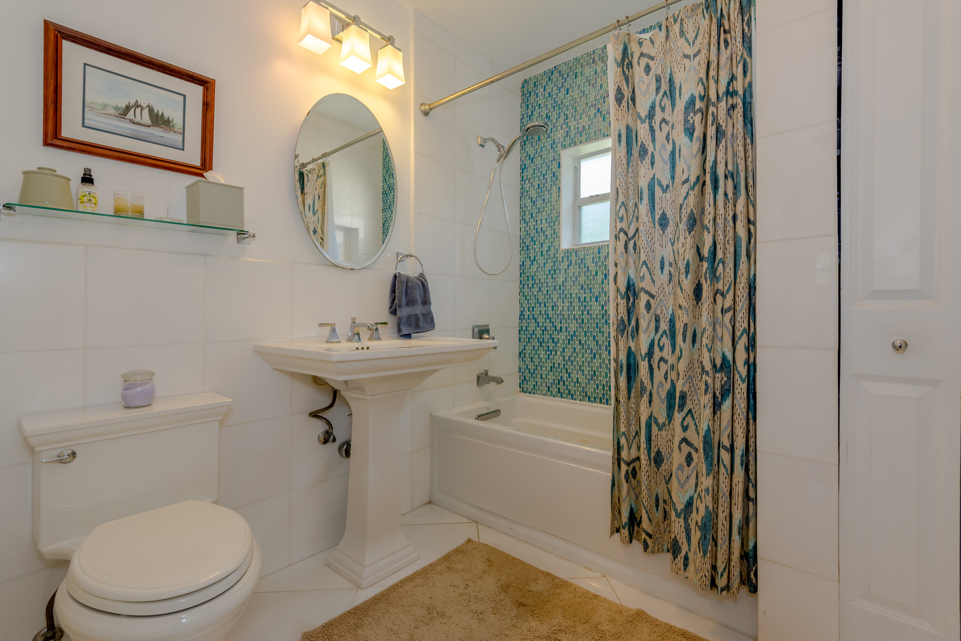 White Guest Bathroom Remodel