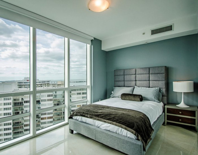 Brickell Penthouse Guest Bedroom Remodel with Ocean View