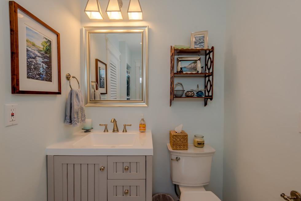 Classy Powder Bathroom Remodel