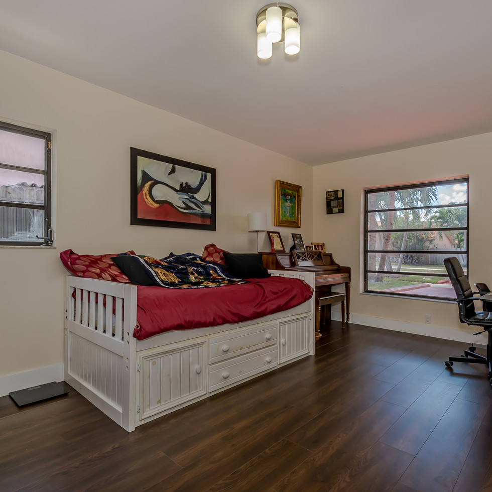 Freshly-Remodeled Office Featuring Wood Flooring & Soft Paint Color