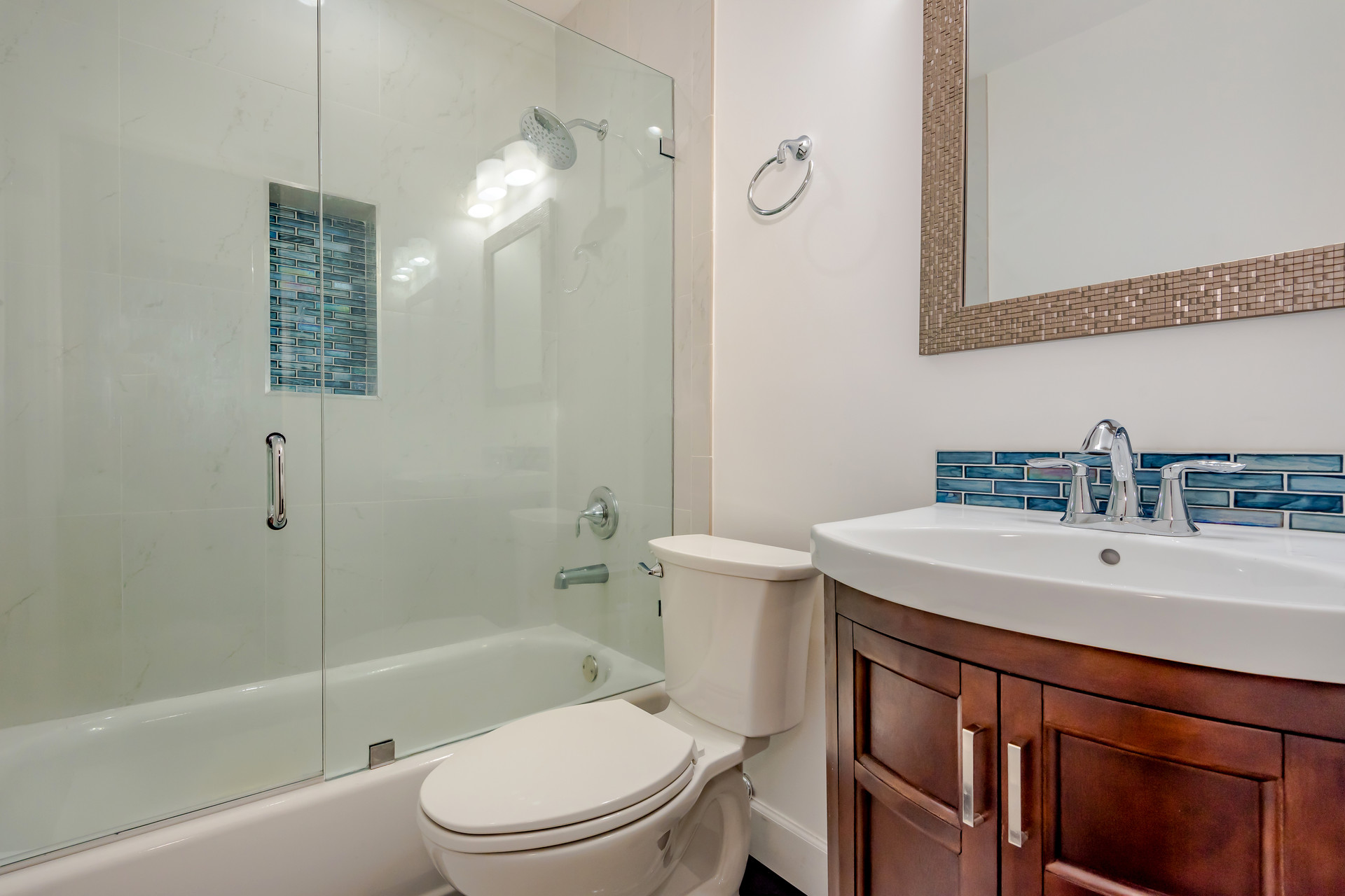 Classic White Guest Bathroom Remodel