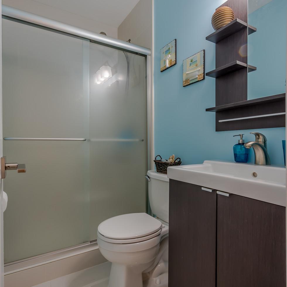 Modern-Style Bathroom Remodel Highlighted By Floating Vanity