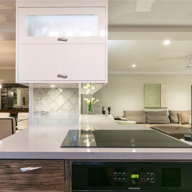 Custom, Italian-Finish Kitchen Remodel Highlighted by a Two-Tone Design & Under-Cabinet Lighting 3