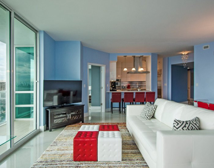 Open-Layout, Brickell Penthouse Remodel