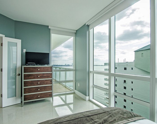 Brickell Penthouse Guest Bedroom Remodel with Ocean View 2
