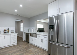 Contemporary White Kitchen Remodel