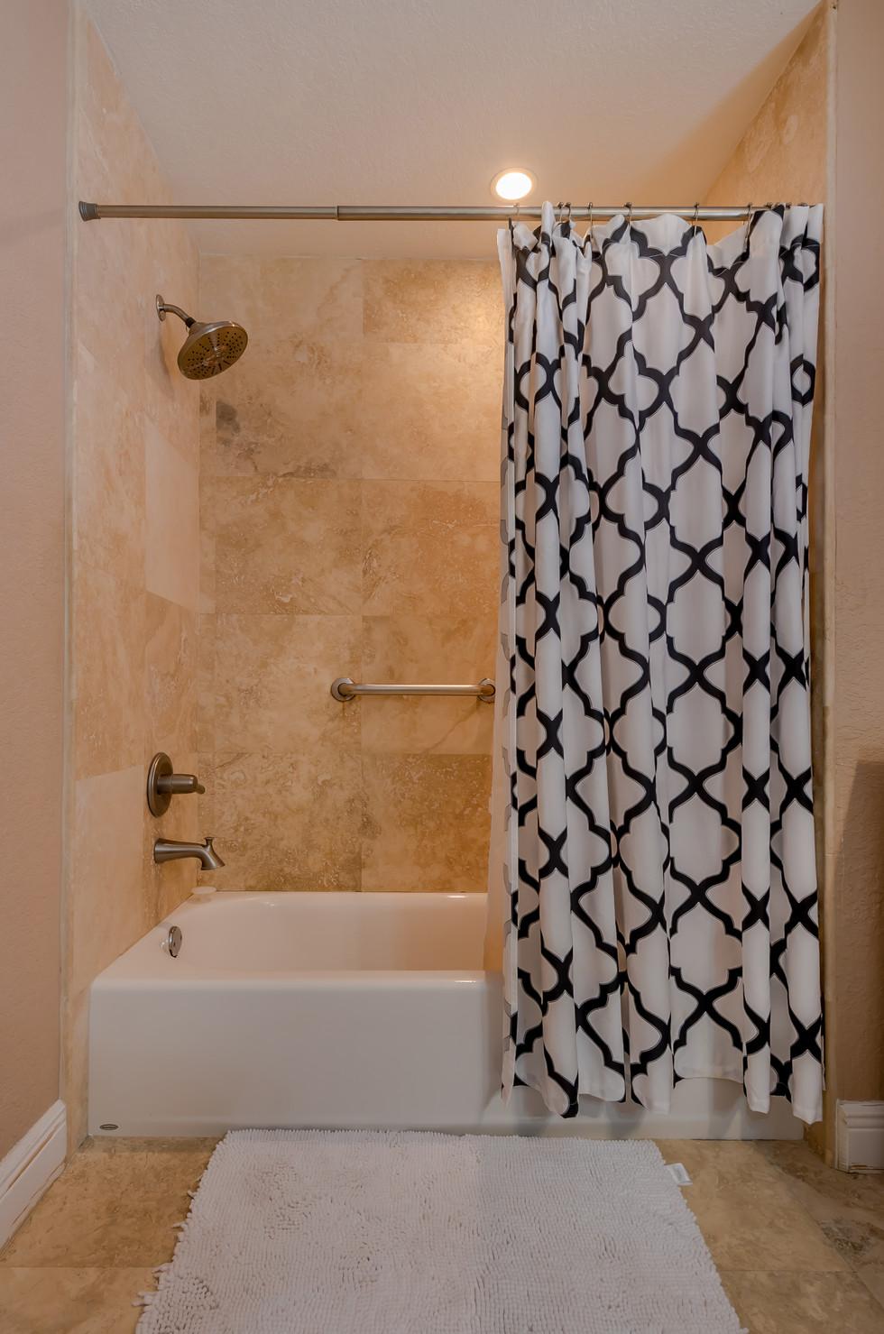 Master Bathroom Remodel Featuring Tub/Shower Combo & Excellent Tile Work