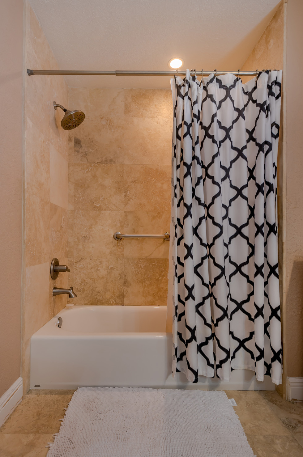 Master Bathroom Remodel Featuring Tub/Shower Combo & Excellent Tile Work