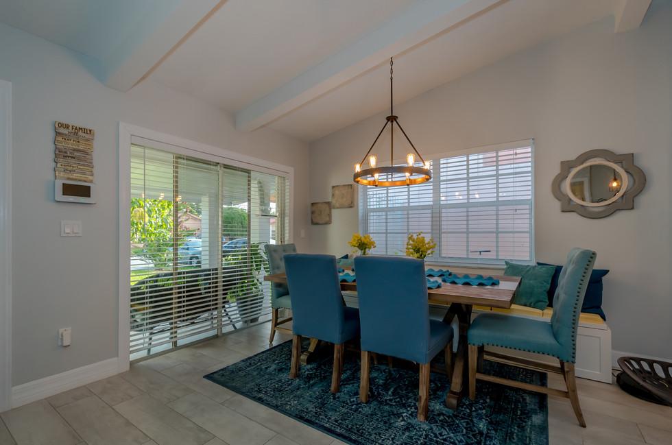 Breathtaking Southwestern Interior Design Featuring Wood Plank Tiles, Elegant Lighting & Decorative Wood Trusses 2