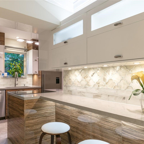 Custom, Italian-Finish Kitchen Remodel Highlighted by a Two-Tone Design & Under-Cabinet Lighting 2