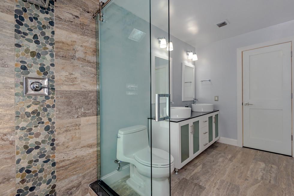 Custom Master Bathroom Remodel with Wrap-Around Shower Bench & Shower Niche 5