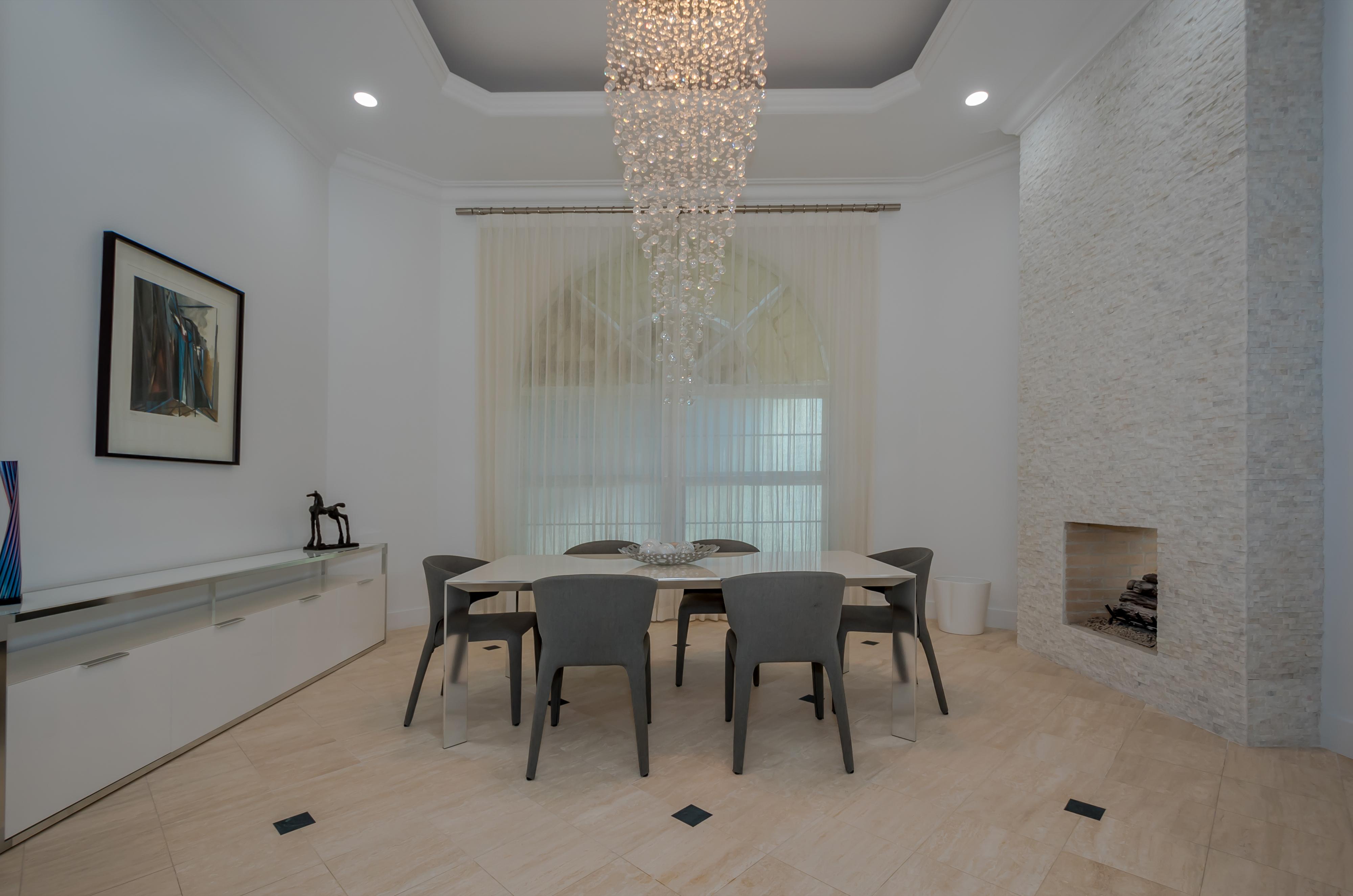 Classy Foyer Area & Grand Chandelier