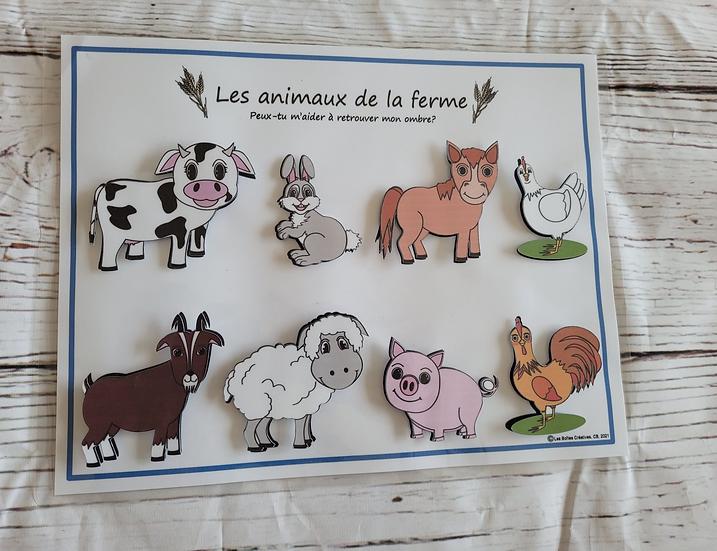 Activité d'association- Les animaux de la ferme *PDF*
