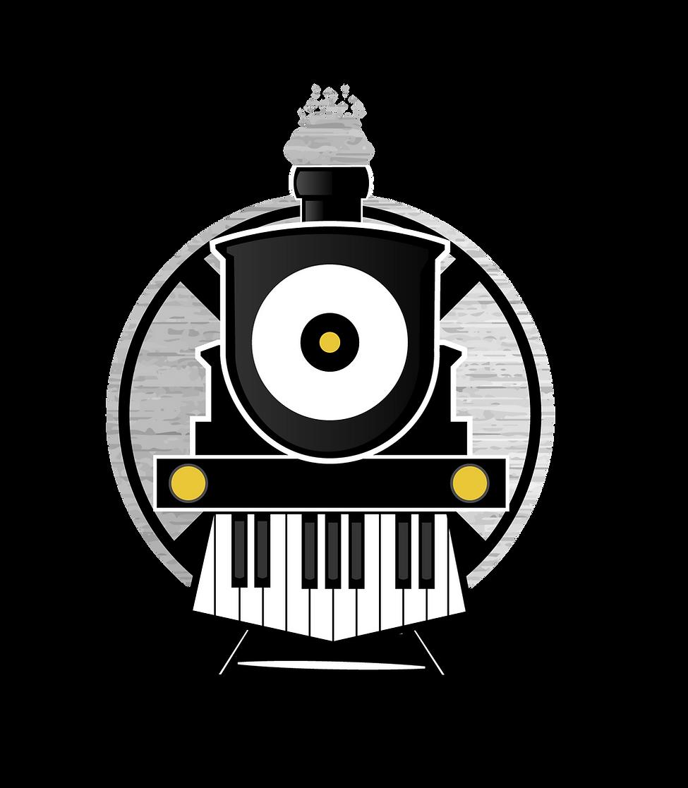 Railroad tracks music  ACADEMY logo