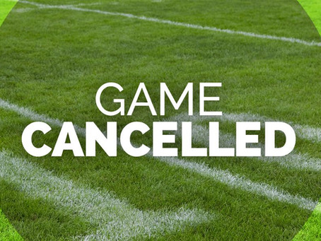 Cove Game Cancelled