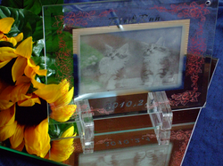 ガラスプレート写真彫刻