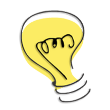 ポップな電球のイラスト