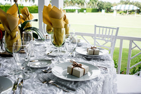 Table Set up overviewing our Croquet Field