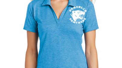 Sport-Tek ® Ladies PosiCharge ® Tri-Blend Wicking Polo Brand Logo